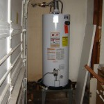 water heater garage
